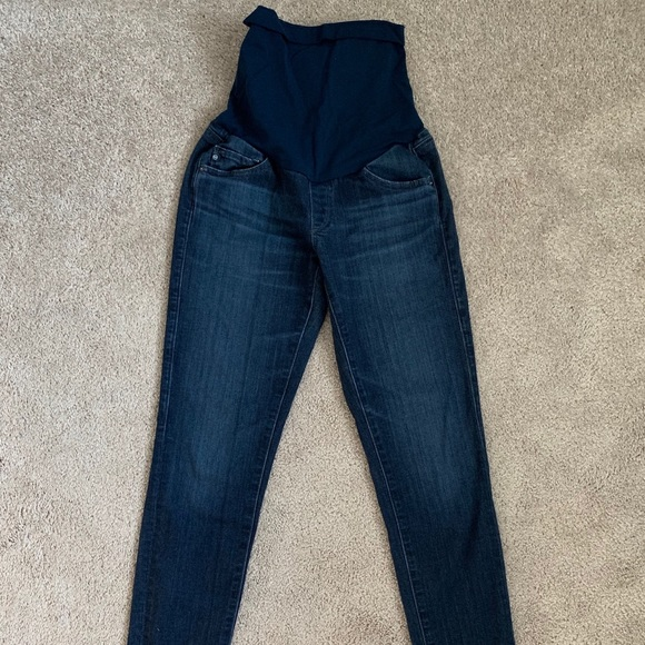 Ag Adriano Goldschmied Denim - AG skinny maternity jeans size 26 coal wash